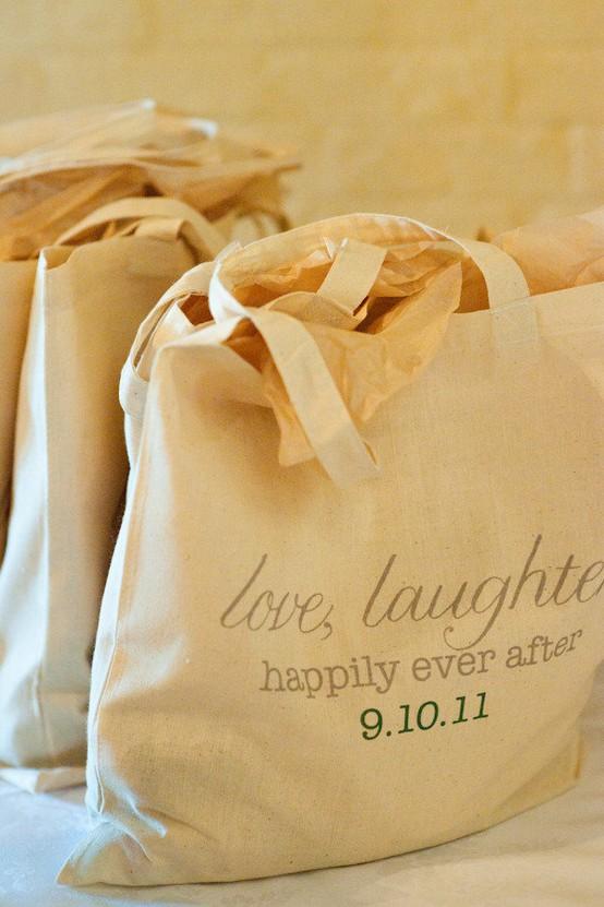 Wedding gift bags good feelings events