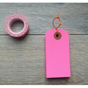 tags-avec-oeillet-kraft-95-x-47-mm-x-10-rose-fluo
